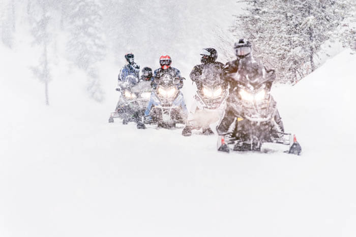 Snowmobiling, Island Park. Photo Credit: Idaho Tourism