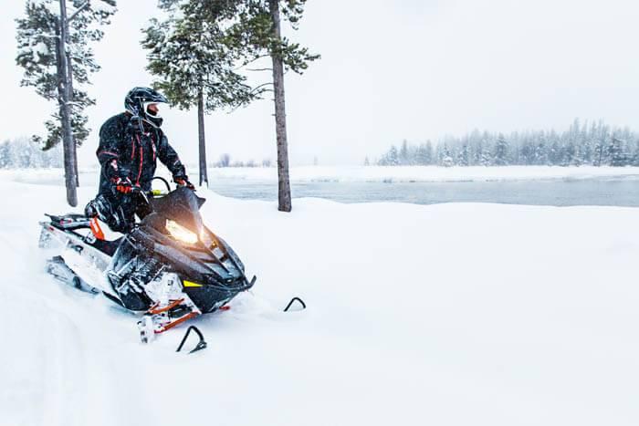 Snowmobiling, Island Park. Photo Credit: Idaho Tourism.