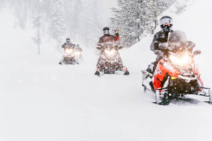 Snowmobiling, Island Park. Photo Credit: Idaho Tourism.