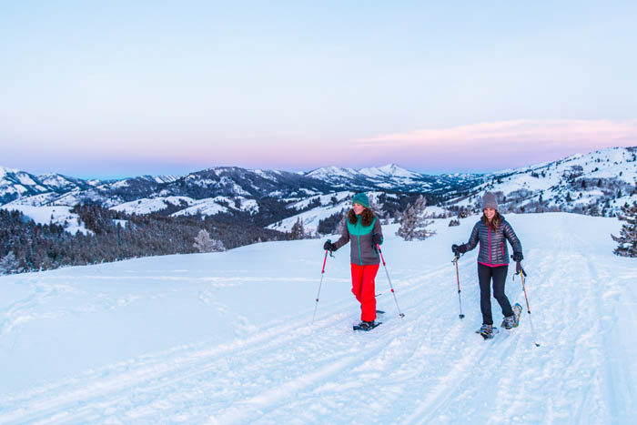 Snowshoeing, Victor. Photo Credit: Idaho Tourism