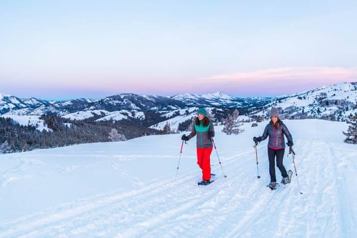 Snowshoeing, Victor.  Photo Credit: Idaho Tourism.