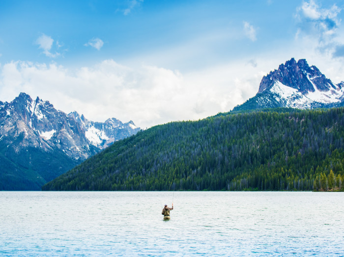 Fly Fishing, Redfish Lake, Stanley. Photo Credit: Idaho Tourism