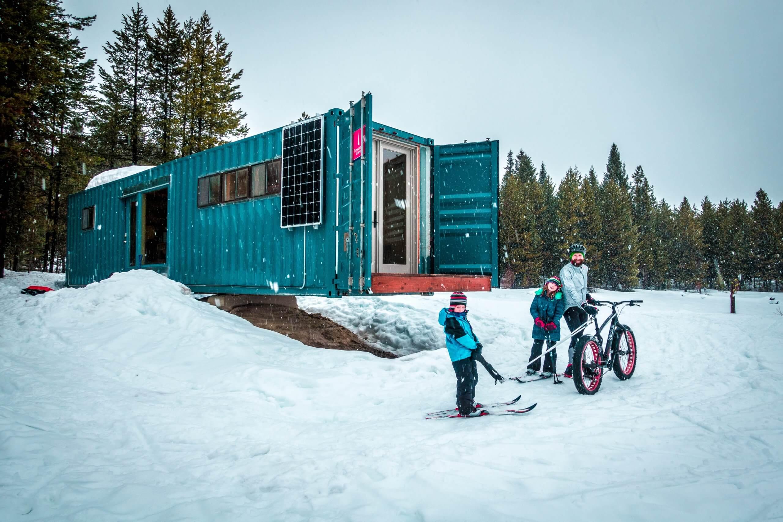 Cargo container cabin at Jug Mountain Ranch.