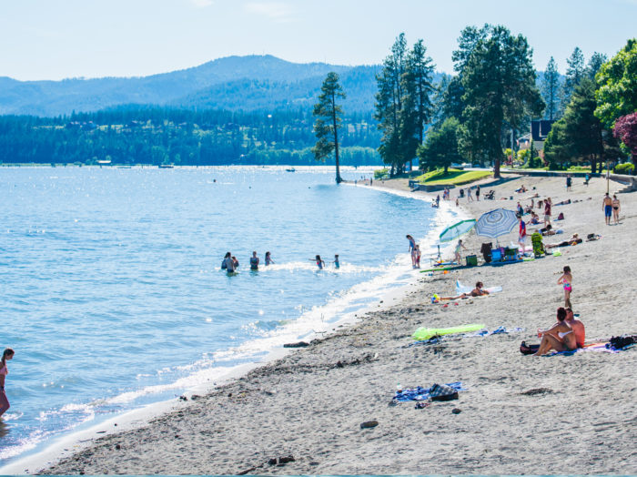 City Park and Beach, Coeur d'Alene. Photo Credit: Idaho Tourism