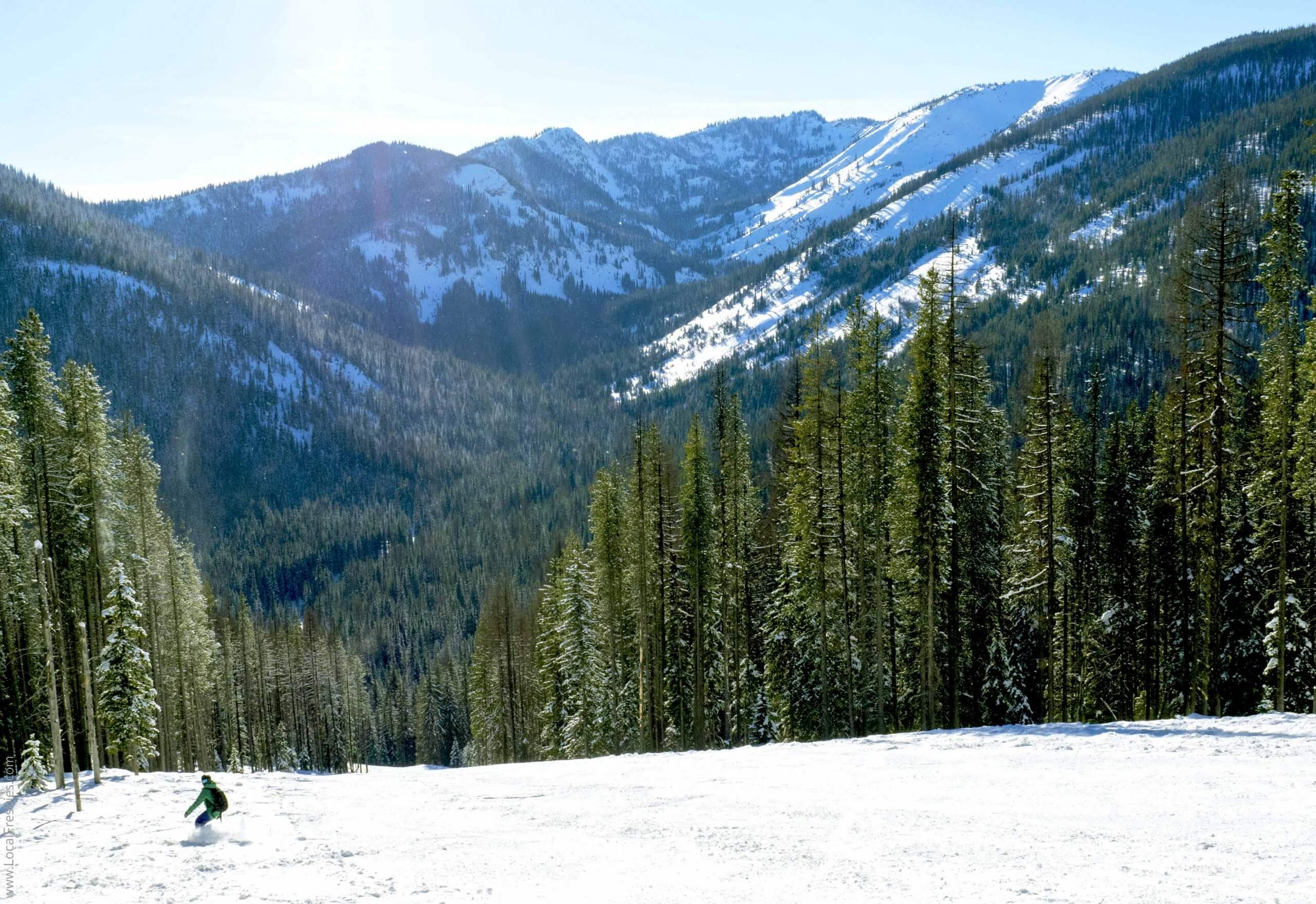 snowboarder on mountain hill
