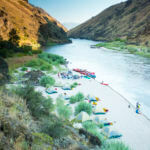 Riverside Camping, Lower Salmon Canyon, Near Lewiston. Photo Credit: Idaho Tourism