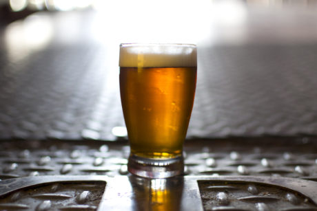 full beer glass