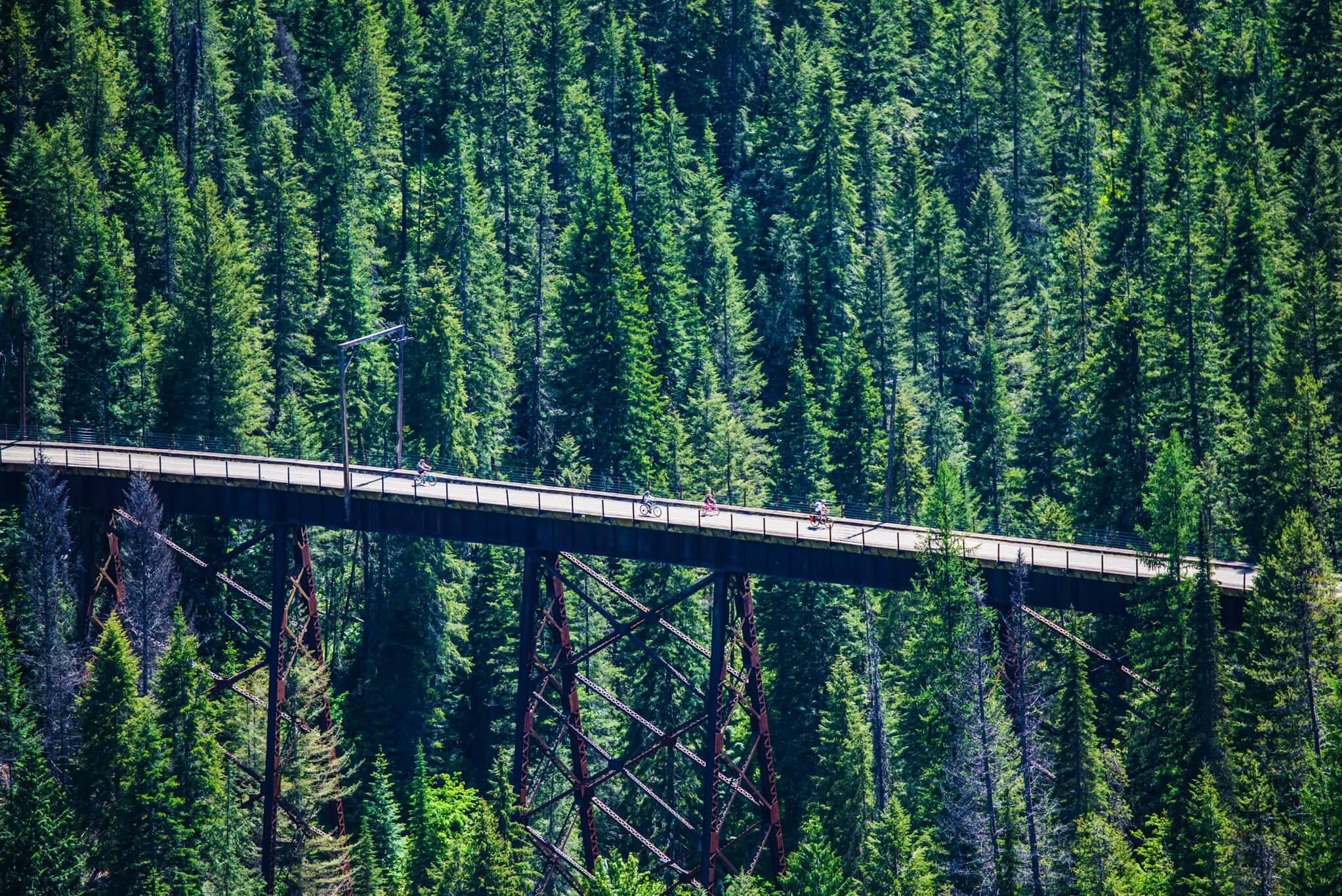 Bike Ride, Route of the Hiawatha, Near Wallace. Photo Credit: Idaho Tourism