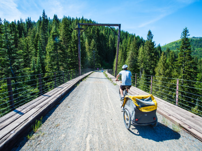 Bike Ride, Route of the Hiawatha, Near Wallace. Photo Credit: Idaho Tourism