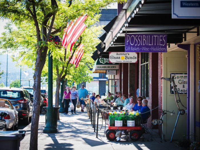 Downtown, Coeur d'Alene. Photo Credit: Idaho Tourism