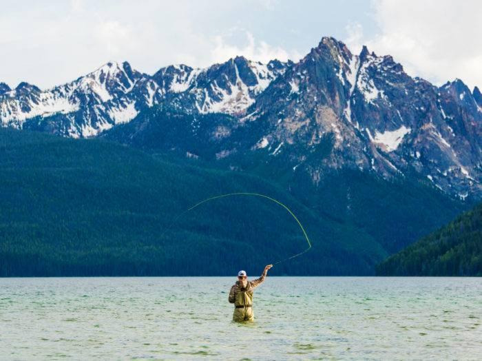 Fly fishing, Redfish Lake, Stanley. Photo Credit: Idaho Tourism