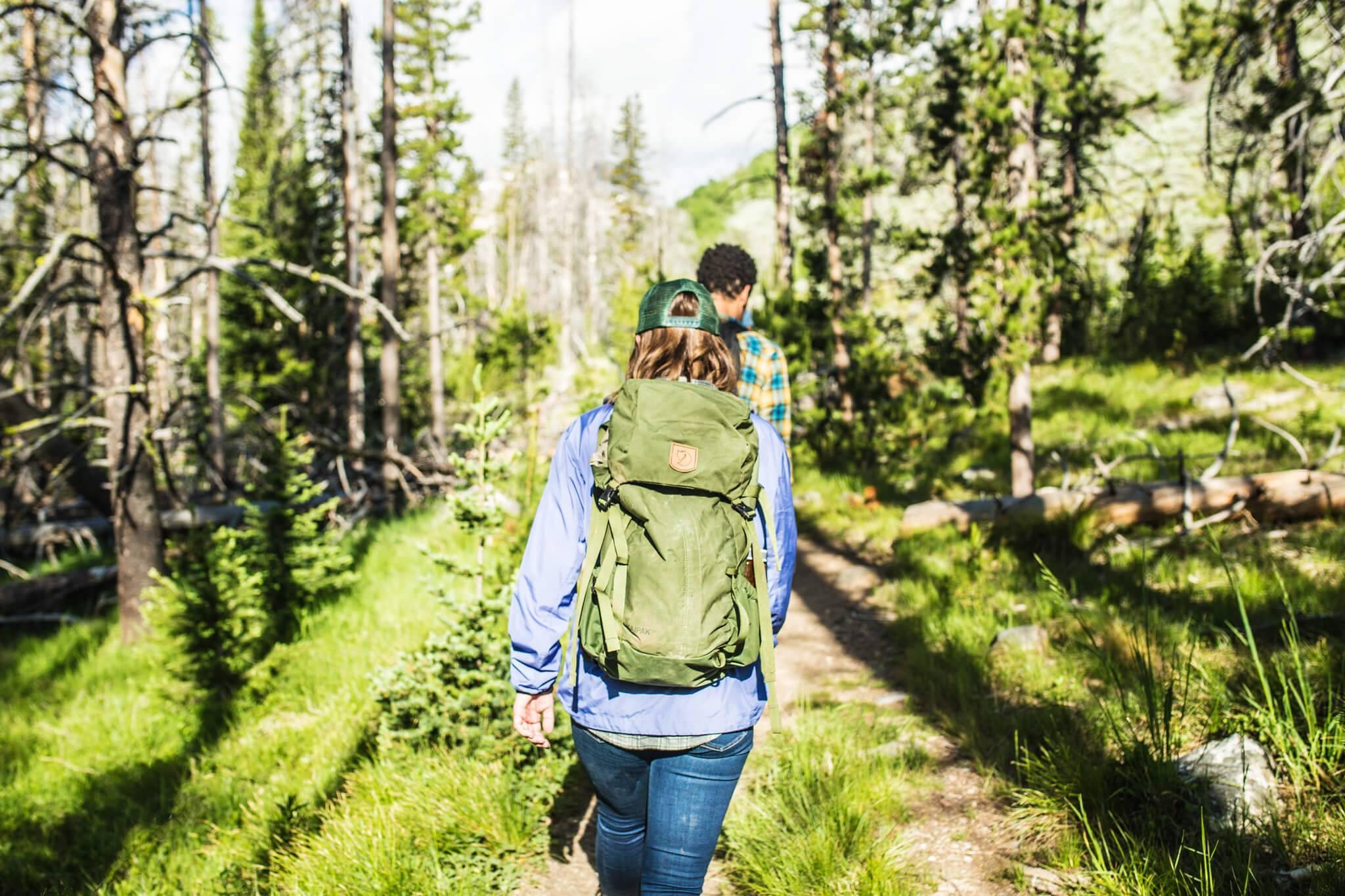 Hiking, Fishhook Creek Trail, Near Redfish Lake, Stanley. Photo Credit: Idaho Tourism