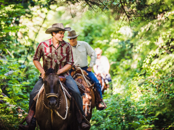 Horseback Riding, Red Horse Mountain Ranch, Harrison. Photo Credit: Idaho Tourism