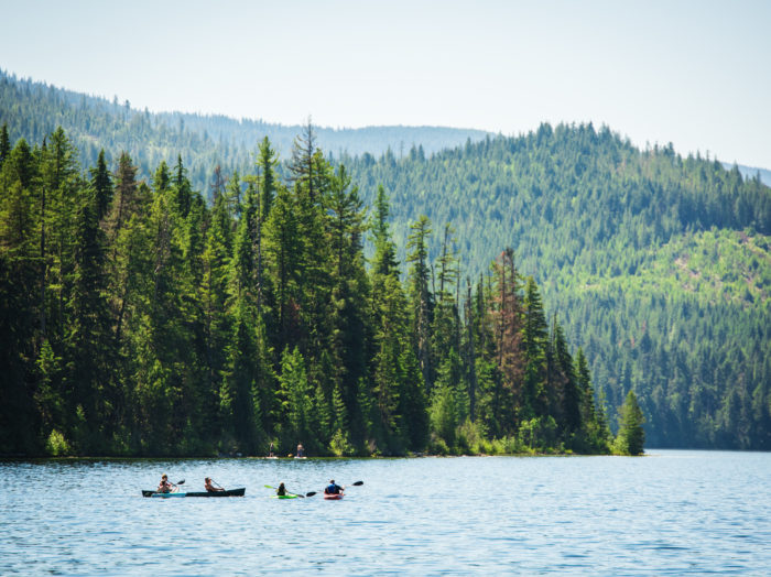 Kayaking, Priest Lake State Park, Coolin. Photo Credit: Idaho Tourism