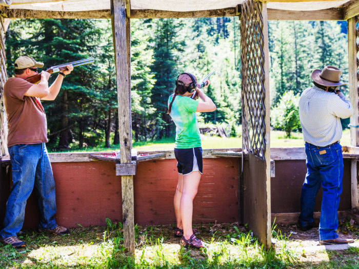 Skeet Shooting, Red Horse Mountain Ranch, Harrison. Photo Credit: Idaho Tourism