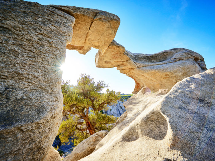Window Arch Trail, City of Rocks National Reserve, Almo. Photo Credit: Idaho Tourism