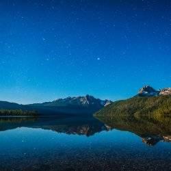 Stargazing at Redfish Lake. Photo Credit: Idaho Tourism.
