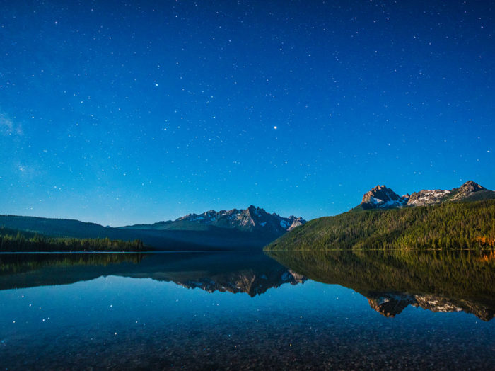 Stargazing at Redfish Lake. Photo Credit: Idaho Tourism.