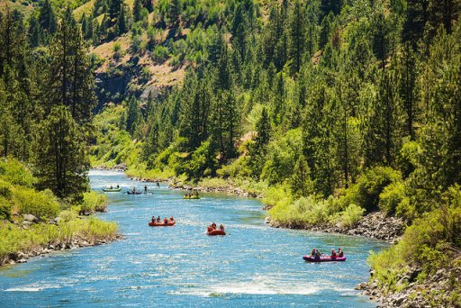 rafters on the payette river