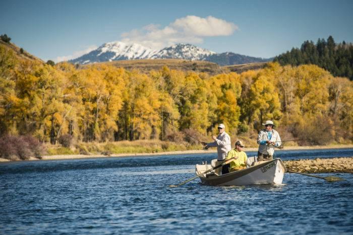 people fishing in a drift boat