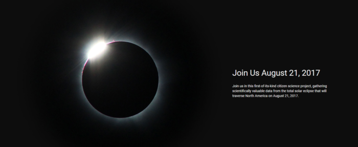 Image of solar eclipse with photography request