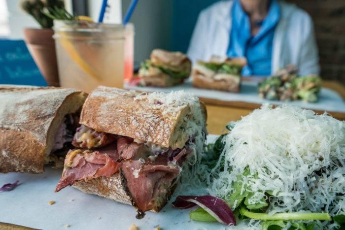 sandwich with a salad