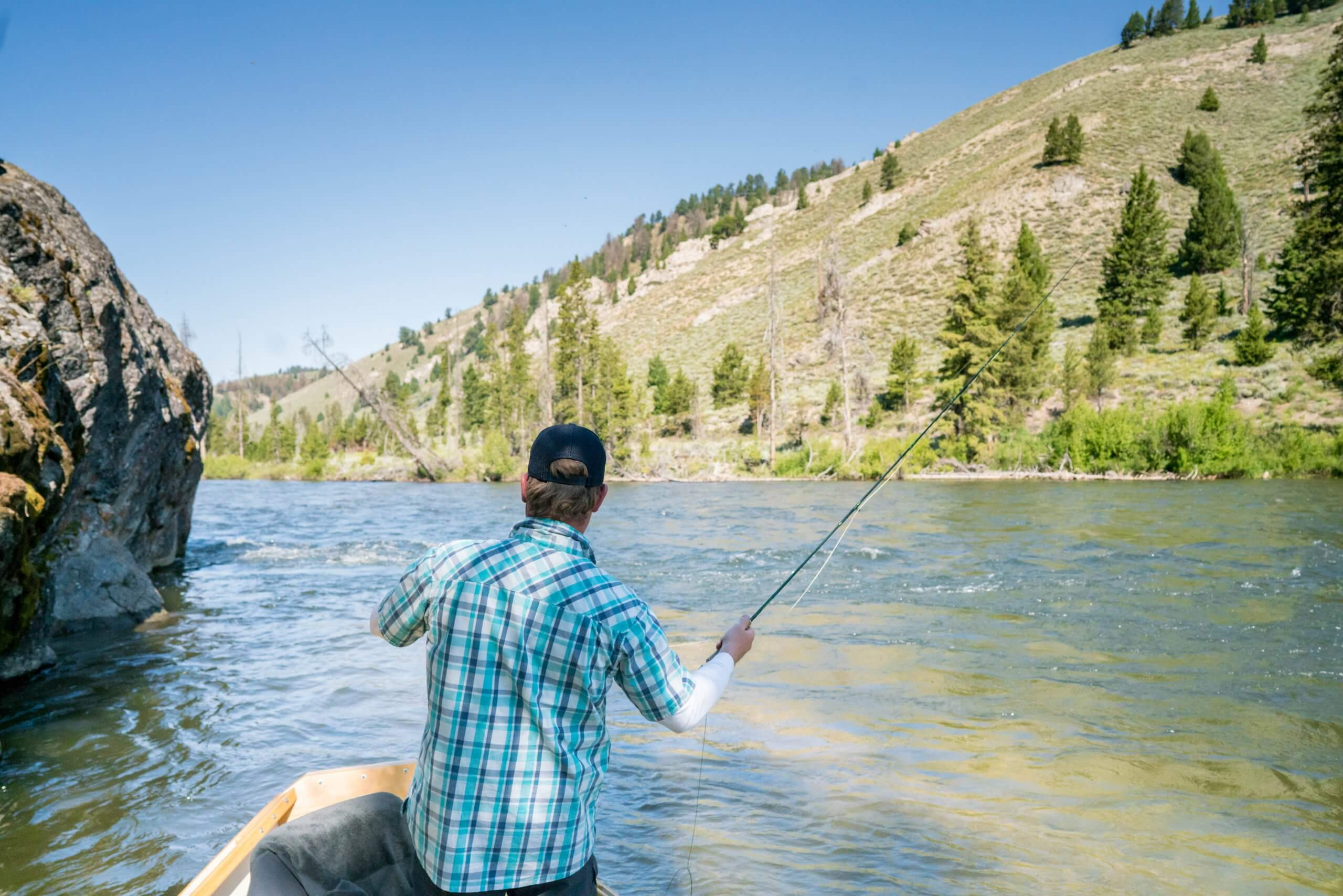 Fly fishing on the Salmon River.