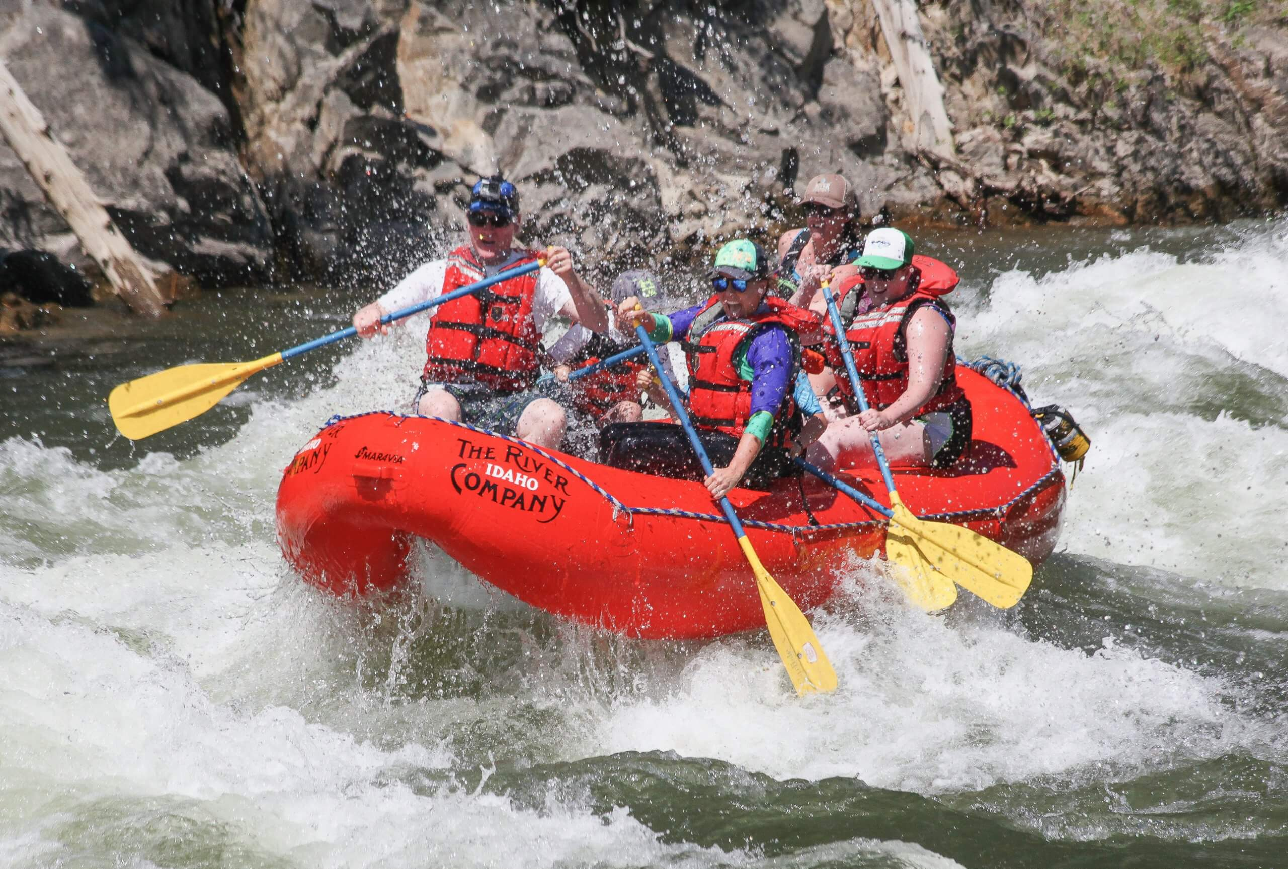 The best way to experience a hot summer day in Idaho, on the river!