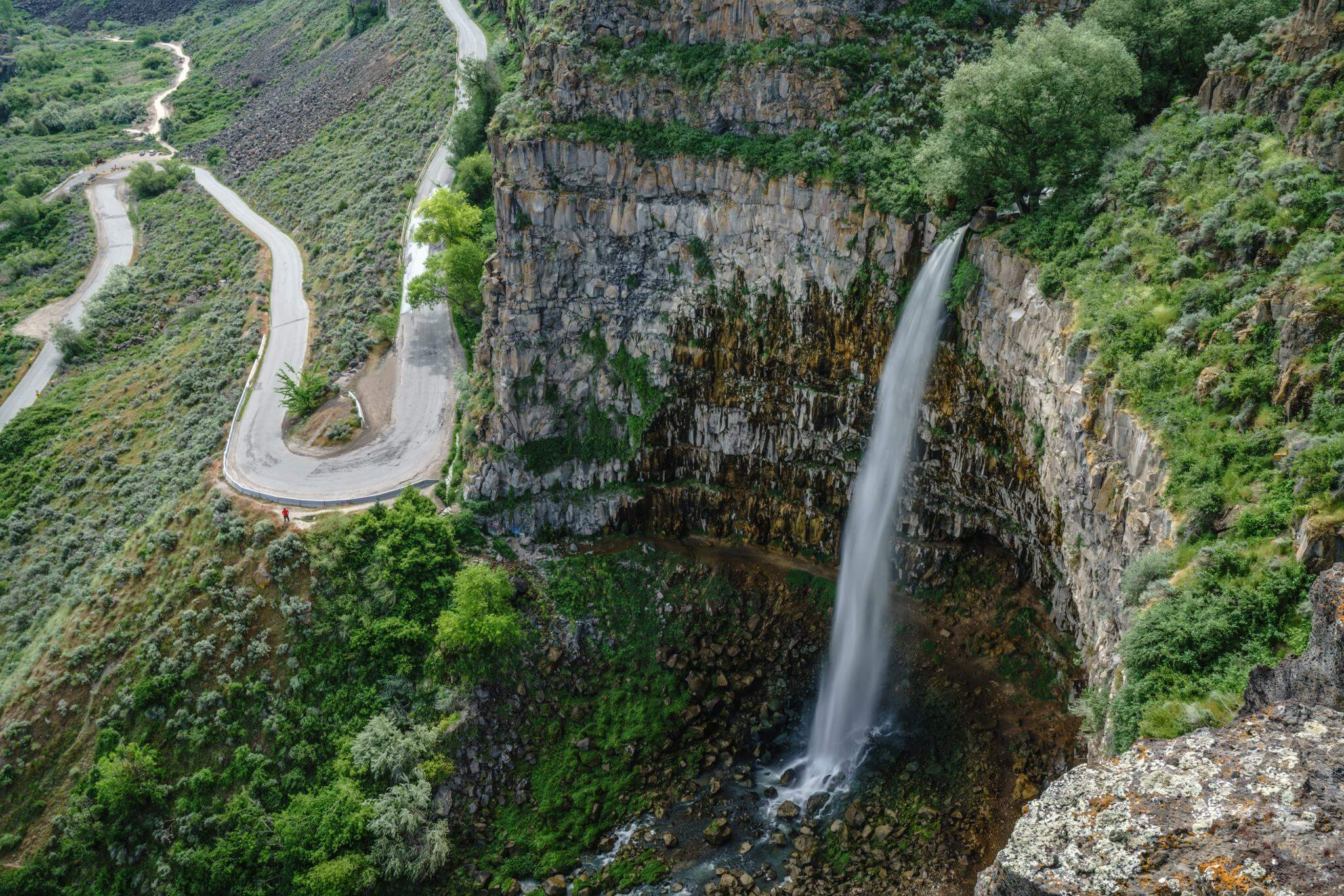Check out this waterfall from a trail above or hike down into the canyon. Photo Credit: Michael Bonocore.