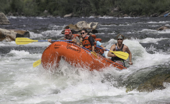 people in a raft