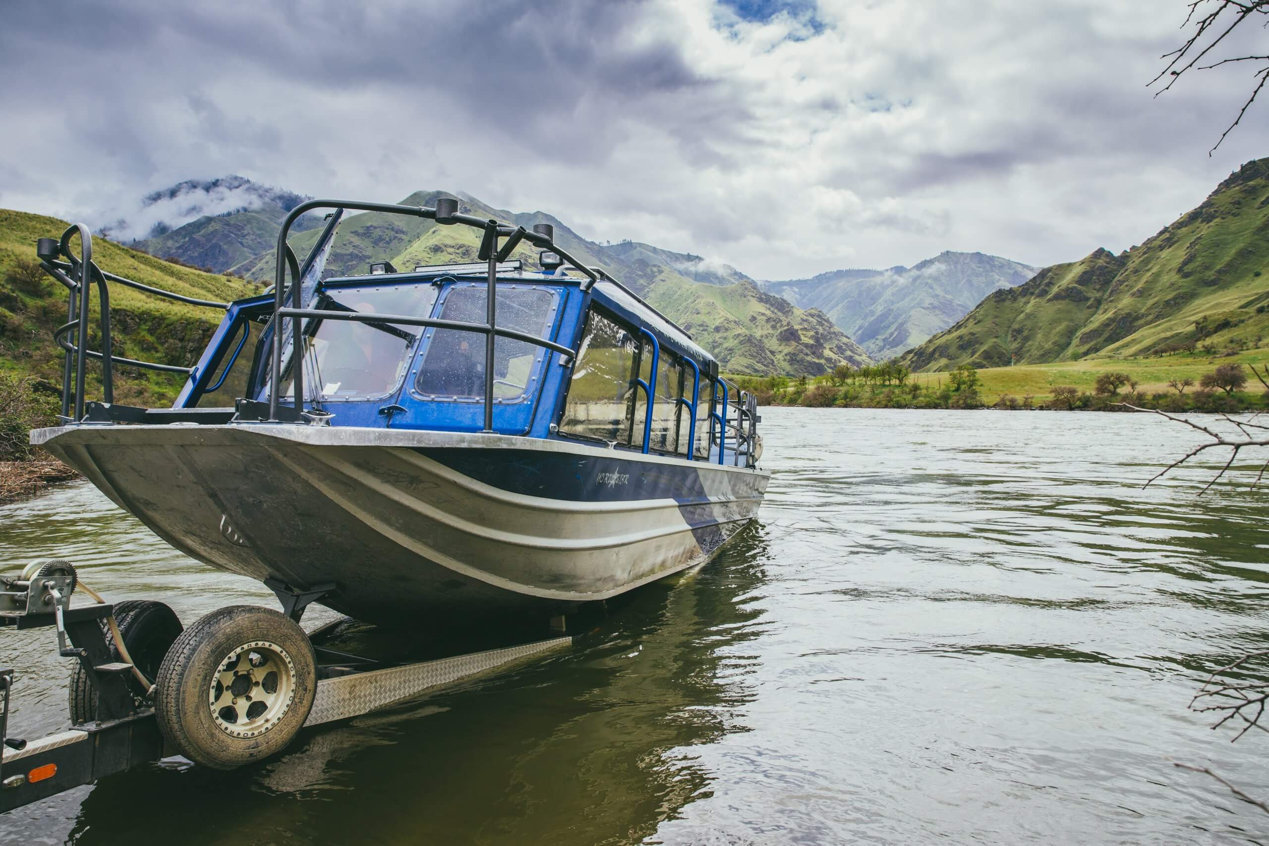 Jet Boating, Hells Canyon, Near Pittsburg Landing
