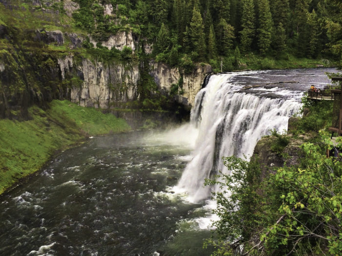A view of Upper Mesa Falls. Photo Credit: Christina McEvoy.