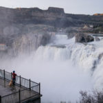 There's plenty to see from the viewing platform at Shoshone Falls. Photo Credit: Michael Bonocore.