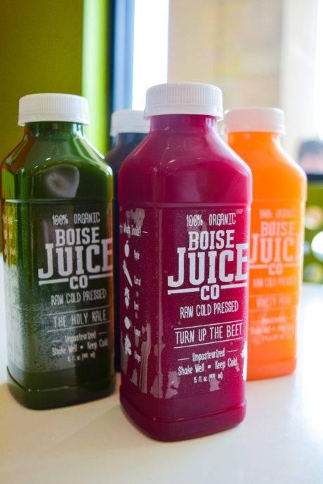 fruit juice in bottles.