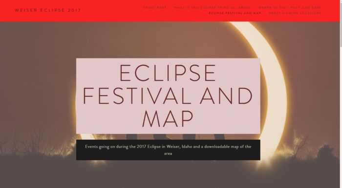 solar eclipse graphic with text