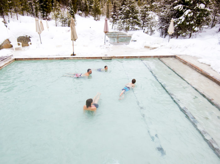 Gold Fork Hot Springs, near Donnelly. Photo Credit: Idaho Tourism