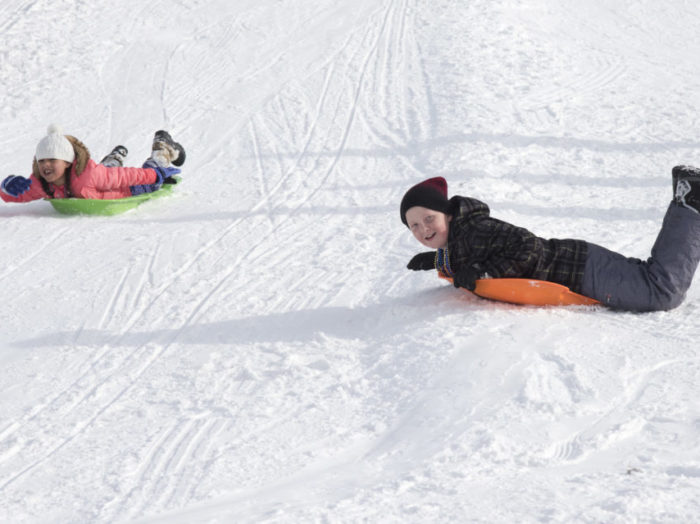 Slide the day away on a tubing hill at the Activity Barn in McCall. Photo Credit: Idaho Tourism.