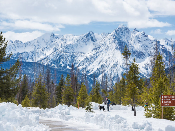 Snowshoeing, Near Stanley. Photo Credit: Idaho Tourism