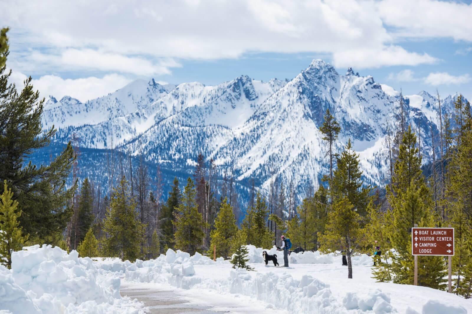 Snowshoeing, Near Stanley