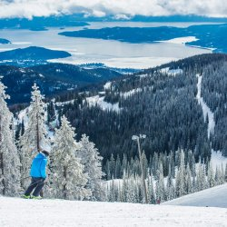 Skiing at Schweitzer Mountain Resort near Sandpoint. Photo Credit: Idaho Tourism.