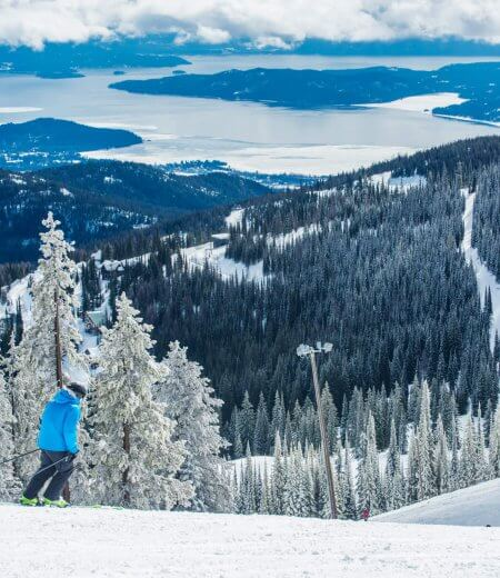 Skiing at Schweitzer Mountain Resort near Sandpoint.
