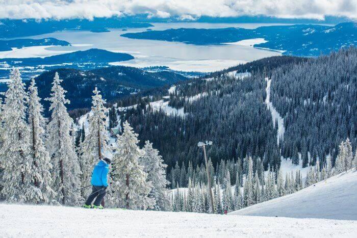 Skiing at Schweitzer Mountain Resort near Sandpoint.