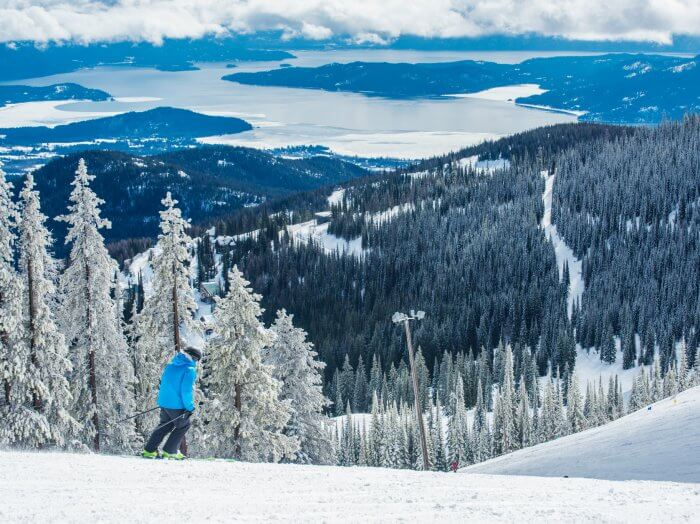 Skiing at Schweitzer Mountain Resort near Sandpoint. Photo Credit: Idaho Tourism