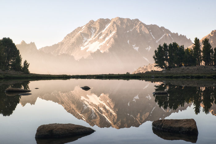 rugged mountain at sunrise