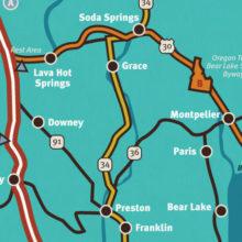 2018 Idaho Travel Guide - Southeast Map