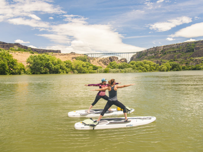 Yoga on the Snake River, Twin Falls. Photo Credit: Idaho Tourism.