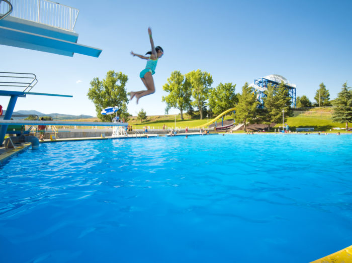 Lava Hot Springs Olympic Swimming Pool & Waterpark, Lava Hot Springs. Photo Credit: Idaho Tourism.