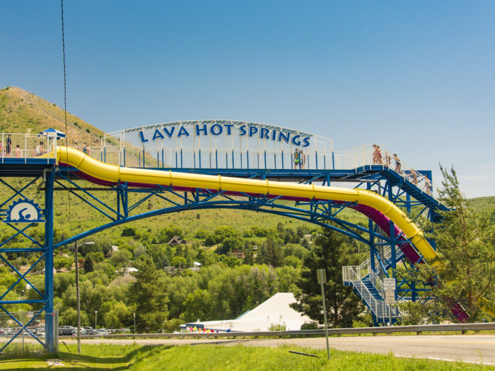 Lava Hot Springs Olympic Swimming Pool & Waterpark, Lava Hot Springs. Photo Credit: Idaho Tourism