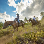 Horseback riding in the Sawtooth Mountains. Photo Credits: Idaho Tourism.