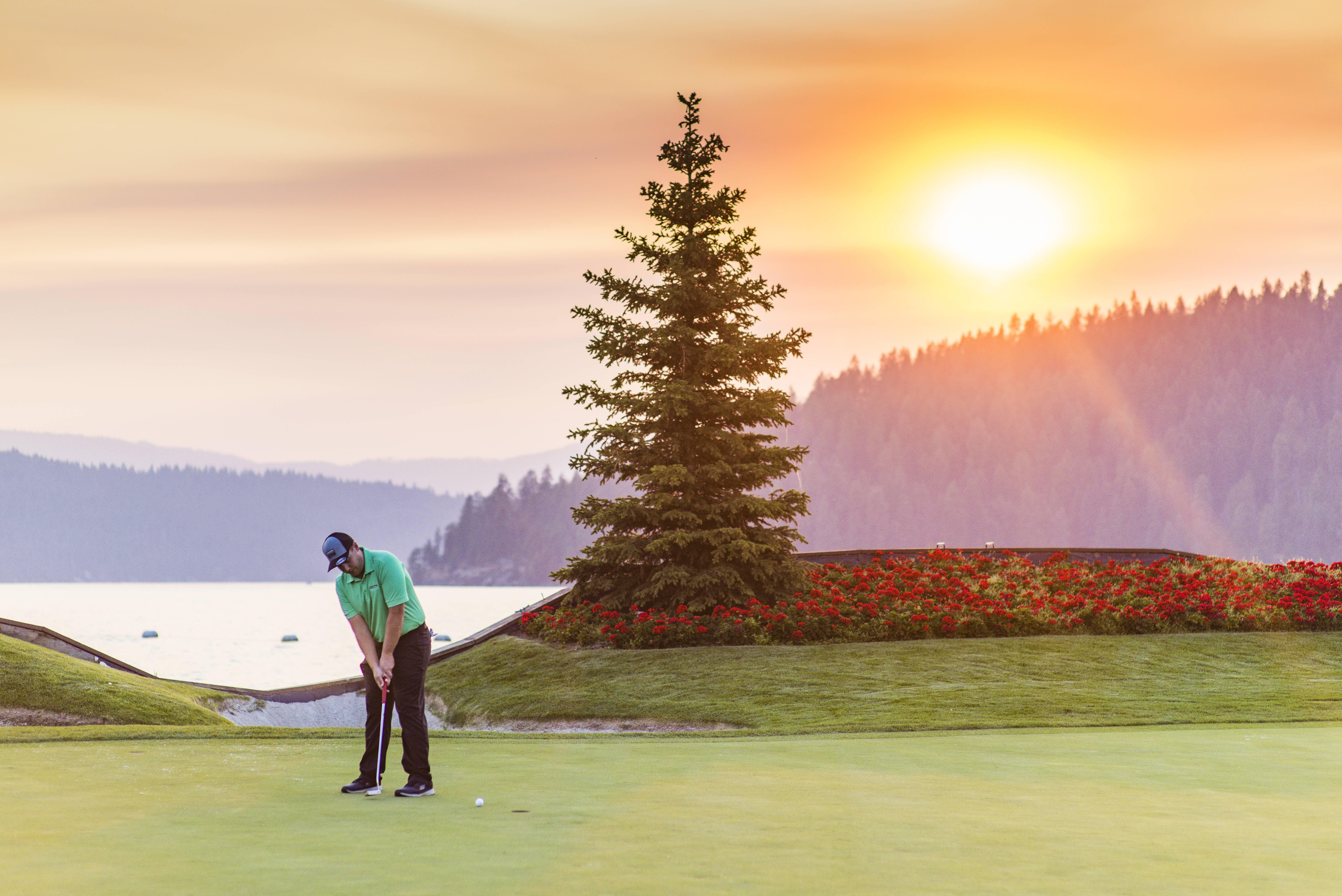 Golfing, Coeur d'Alene Golf Resort, Coeur d'Alene. Photo Credit: Idaho Tourism